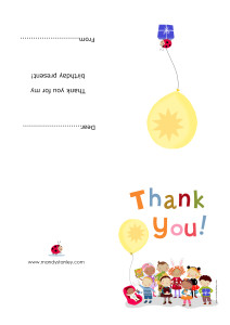 Thank you note download