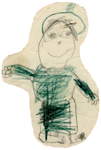 Mary Solomon, as drawn by Mandy Stanley when she was three years old.