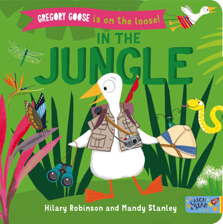 Book cover for Gregory Goose in the Jungle.